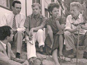 Truman Capote, Jane y Paul Bowles en Tánger. 1949.