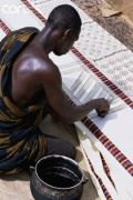 via Africland Man Printing Adinkra Cloth. Ghana