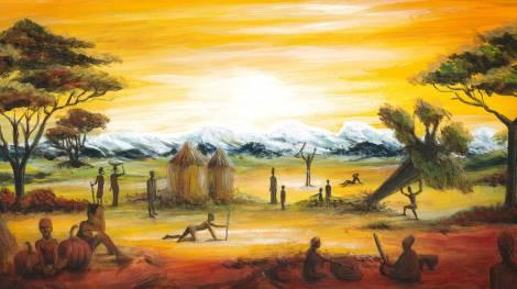 Ilustración 'El milagro', del artista Oto Vega.