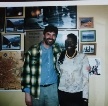 El editor con Ken Bugul