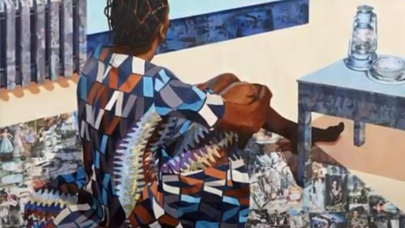 "jideka Akunyili Crosby pintaba una serie de cuadros bajo el título ""The Beautyful Ones Are Not Yet Born"" Might Not Hold True For Much Longer."